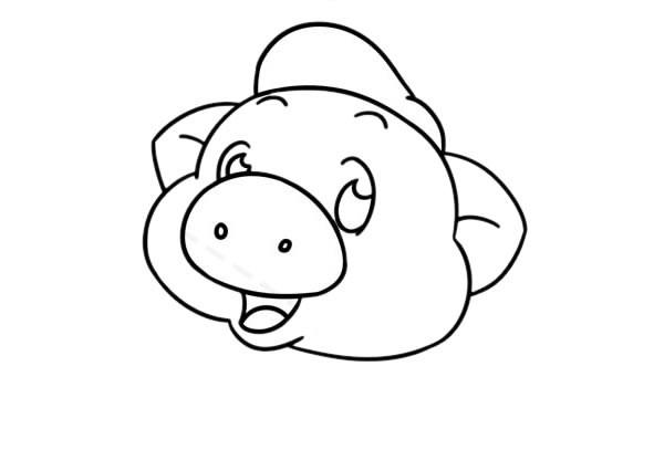 卡通猪八戒简笔画步骤画法教程