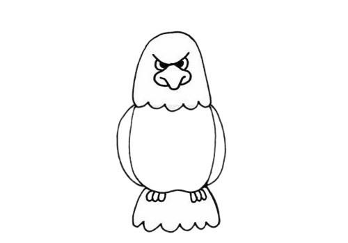 凶猛的老鹰简笔画步骤画法及图片大全