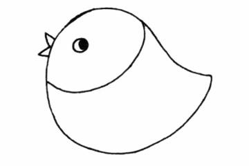 小麻雀简单画法步骤图解教程