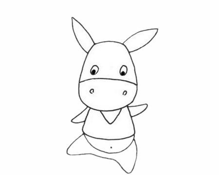 小毛驴简单画法步骤图解教程