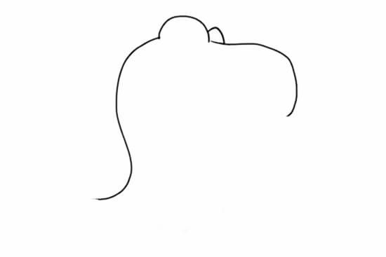 霸王龙简笔画_卡通霸王龙简笔画步骤画法教程
