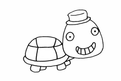 超简单的乌龟简笔画步骤画法图片大全