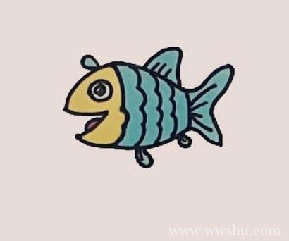 小鱼简笔画步骤图解教程