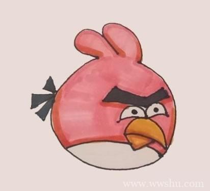 愤怒的小鸟简笔画步骤图解教程