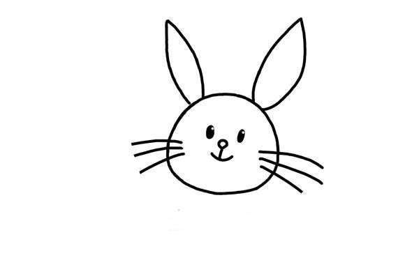 可爱的小白兔简笔画步骤图解教程