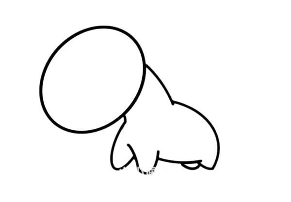 【小毛驴简笔画】可爱的卡通小毛驴简笔画步骤画法教程