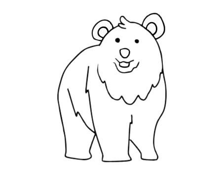可爱的北极熊简笔画简单画法步骤图片大全