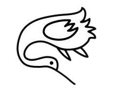 超简单的丹顶鹤简笔画步骤画法图片大全