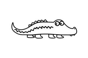 简单的鳄鱼简笔画步骤画法图片大全