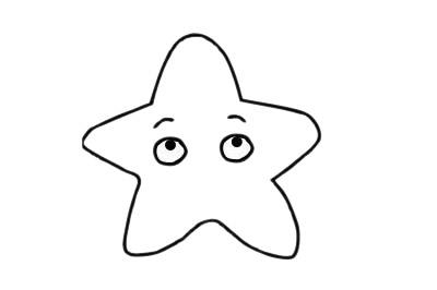 海星简笔画 线描海星简笔画简单步骤画法图