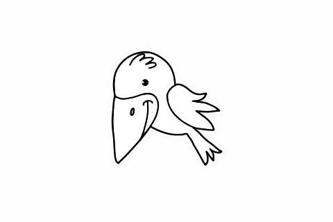 乌鸦简笔画 可爱的乌鸦简笔画步骤图片大全