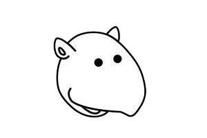 犀牛简笔画 简单的卡通犀牛简笔画步骤图片大全