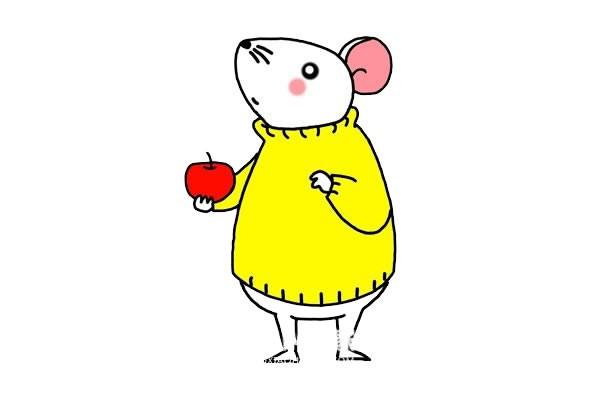 小老鼠简笔画 卡通老鼠简笔画步骤画法教程