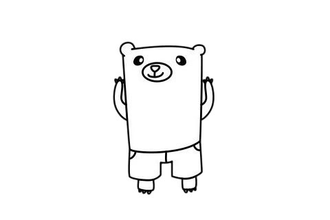 熊简笔画 卡通熊简笔画步骤图片大全