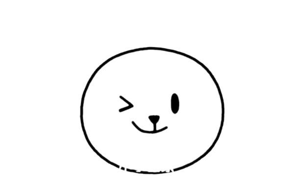 猫咪头像简笔画步骤画法图片大全