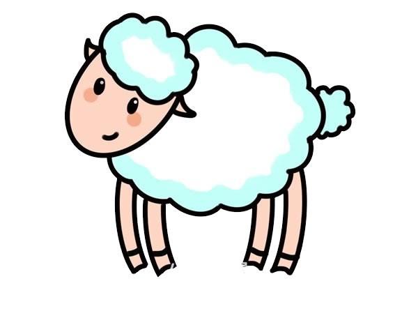 简笔画绵羊的画法步骤图片