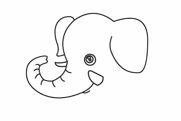 大象如何画最简单 卡通大象简笔画步骤教程