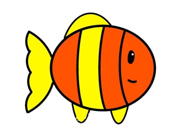 简笔画小丑鱼的画法_可爱小丑鱼简笔画步骤图片