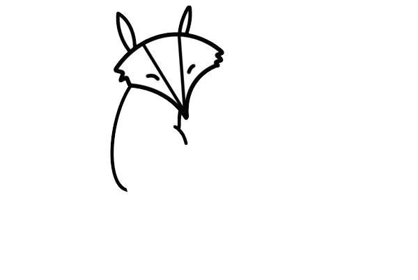 狡猾的狐狸简笔画画法步骤图片