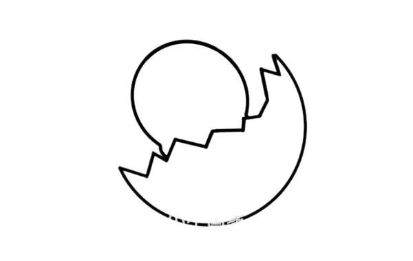 刚破壳的小鸡如何画 小鸡破壳简笔画画法步骤图片教程