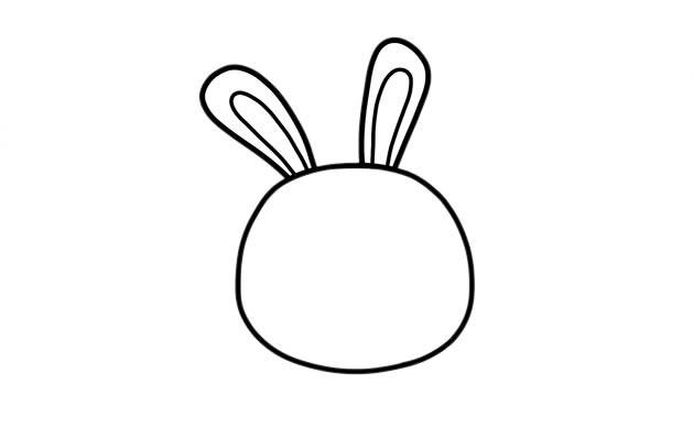 拿着胡萝卜的兔子简笔画 可爱兔子简笔画步骤画法图片教程