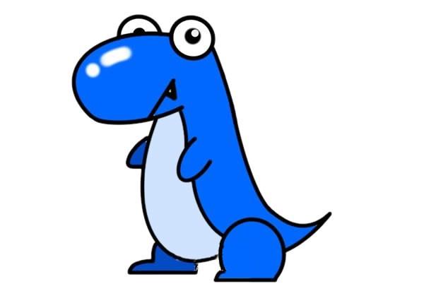 可爱恐龙简笔画大全带颜色_卡通恐龙简笔画画法步骤教程