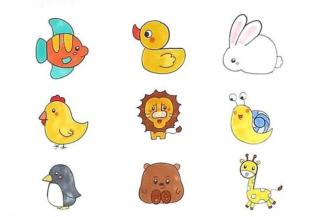 1到9数字画动物图画大全_1到9数字画动物简笔画步骤教程