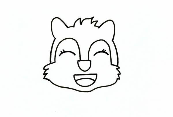 松鼠简笔画_开心的松鼠卡通简笔画彩色手绘画