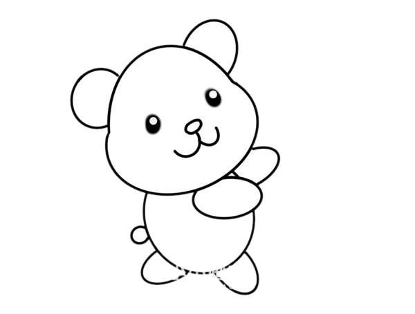 玩具小熊如何画_玩具小熊简笔画画法步骤图片教程
