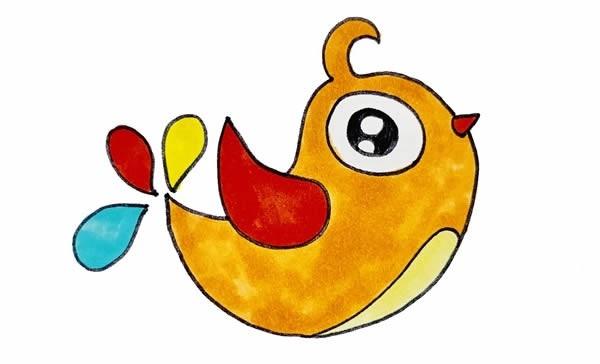 喜鹊简笔画彩色画法步骤图片_喜鹊如何画漂亮又简单