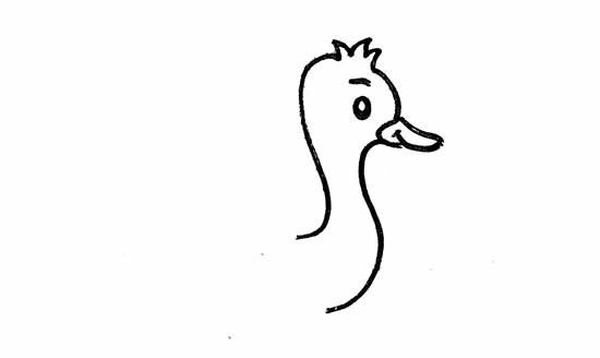 鸵鸟如何画简单又漂亮_鸵鸟简笔画彩色画法步骤图片