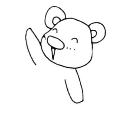 【考拉简笔画的画法】可爱彩色考拉简笔画的画法步骤教程