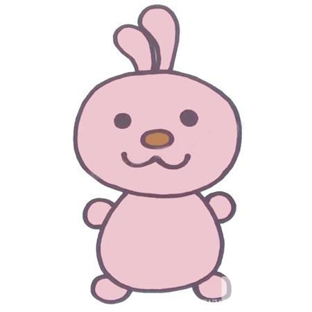 【卡通兔子简笔画】幼儿学画卡通兔子简笔画的画法步骤教程