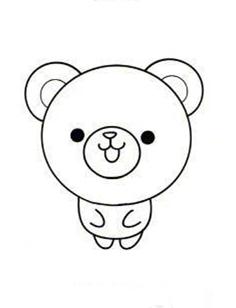 【小熊简笔画】可爱小熊简笔画的画法步骤教程