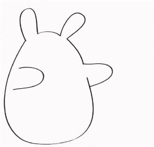 【龙猫打伞简笔画】龙猫打伞简笔画的画法步骤教程