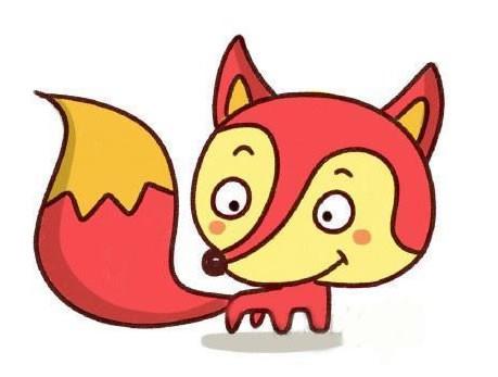 【狐狸简笔画步骤】儿童学画狐狸简笔画的画法步骤教程