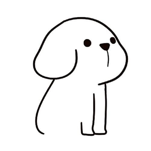 【小狗如何画一步一步教】可爱小狗简笔画的画法步骤图解