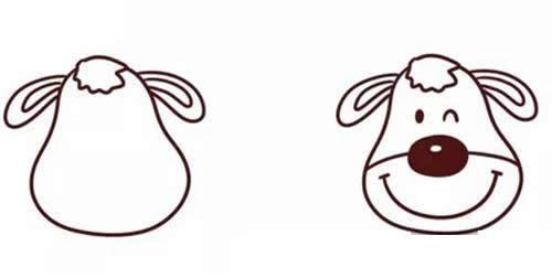 卡通麋鹿简笔画-圣诞麋鹿简笔画的画法步骤教程