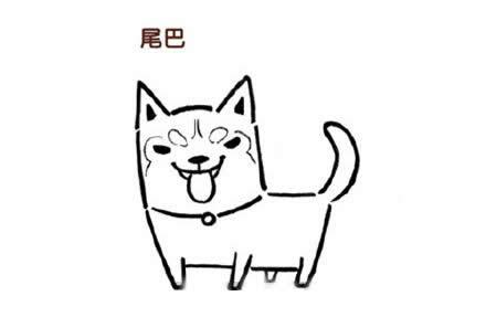 如何画哈士奇q版简笔画 可爱狗狗二哈简笔画的画法步骤教程