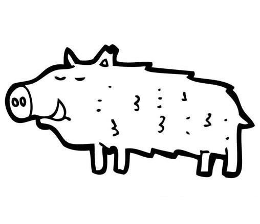 【卡通疣猪简笔画】卡通疣猪的画法简笔画图片大全