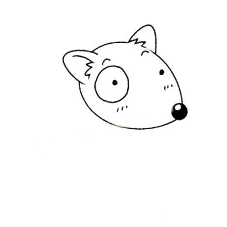 小狗简笔画 简单的牛头梗犬简笔画画法步骤教程