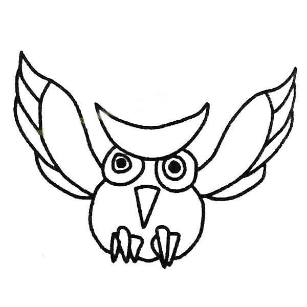 猫头鹰的画法简笔画步骤教程_7种猫头鹰简笔画图片大全