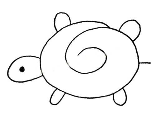 【简单的乌龟如何画】简单的乌龟简笔画图片大全