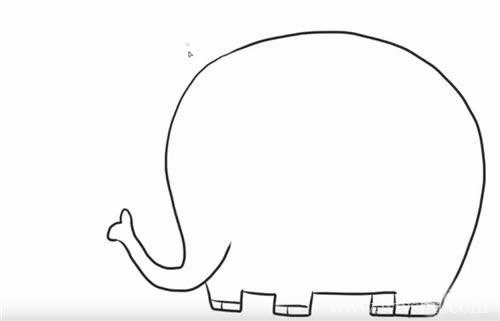 【大象简笔画图片】幼儿简笔画大象的画法步骤教程