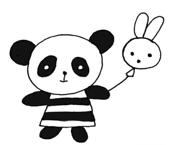 【大熊猫简笔画】6款简笔画大熊猫的简单画法图片