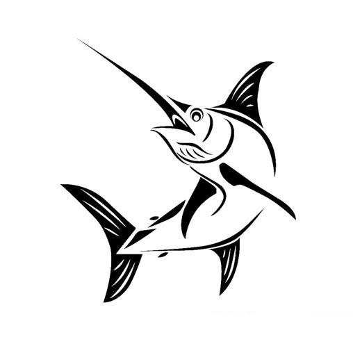 马林鱼简笔画 - 大马林鱼简笔画图片