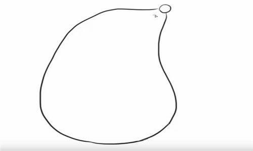 小鼹鼠简笔画教程 - 萌翻天的鼹鼠宝宝简笔画步骤图解教程