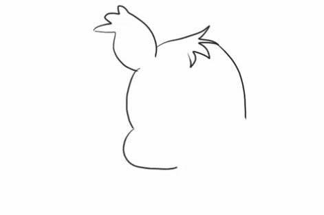 松鼠简笔画的画法步骤教程 爱吃坚果的松鼠简笔画如何画