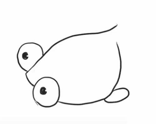 金鱼简笔画图片 大尾巴金鱼简笔画教程步骤图解