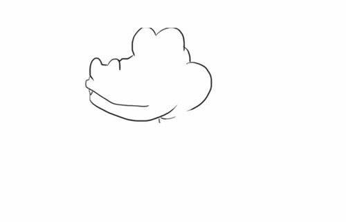 卡通鳄鱼简笔画的画法步骤图解 - 卡通鳄鱼如何画简笔画